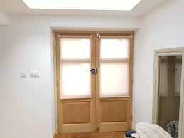 door blinds roller. Blinds Fitted To Entrance Doors | Pumice Colour From Our Basics Range For Door Roller E
