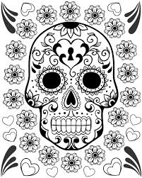 Small Picture Free Printable Day Of The Dead Coloring Pages Best At zimeonme