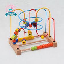 Luồn hạt mê cung gỗ SIZE TO - BẢN ĐẸP| Đồ chơi cho bé dưới 1 tuổi