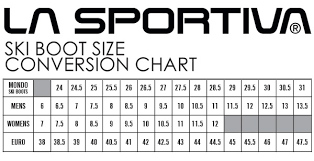 Womens Ski Size Chart 27 Most Popular La Sportiva Boot Sizing
