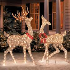 light up deer decorations luxury decorating 30 lovely santa sleigh and reindeer outdoor decoration