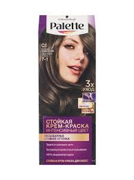 Краска для волос ICC C6 <b>Холодный</b> средне-русый <b>Palette</b> ...