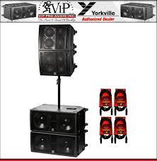 Yorkville Led Lights For Sale 2x Yorkville Psa1 1200w Active Array Speaker 2x Psa1s 1400w Subwoofer Bundle