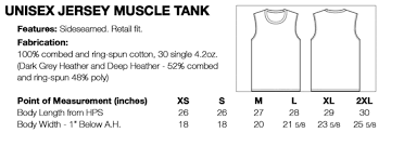 Bella Canvas Muscle Tank Size Chart Custom Muscle Tank Tops Unisex Create Your Own Hub92prints