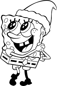 Spongebob Kerst Kleurplaat Nickelodeon Kerstkkleurplaten