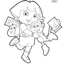 Dora Coloring Pages Printable Coloring Dora Mermaid Printable