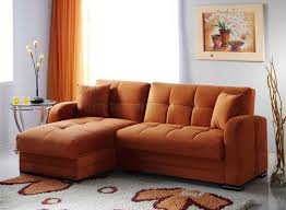 Orange Couch Living Room Kubo Sectional Sofa Bed In Rainbow Orange Fabric By Sunset