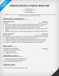 Resume Template Firefighter Resume Examples Best Sample Resume