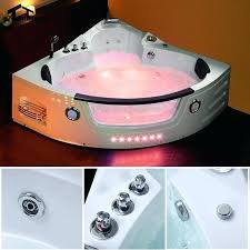 bathtub with glass wall wall corner whirlpool hot tub shower spa massage 2 person bathtub glass