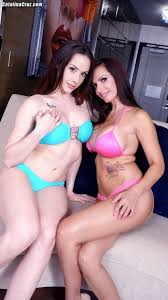Chanel Preston sucking on 4 cocks with Catalina Cruz for a live.