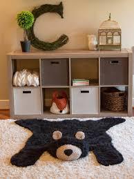 black bear rug faux bear rug l woodland nursery baby room woodland animal nursery rug