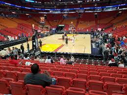 Miami Heat Seating Chart With Seat Numbers Americanairlines Arena Section 112 Miami Heat