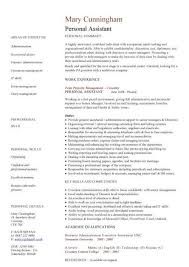 Personal Assistant Resume Sample Administrative Examples Business