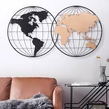 modern geometry metal round frame black