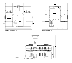 clubhouse design plan and elevations dwg