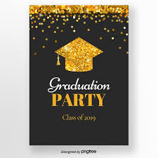 Graduation Party Invitation Template Black And Gold Sequins Graduation Cap Graduation Party