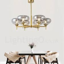 glass shade contemporary chandelier table. Modern / Contemporary 6 Light Aluminum Alloy Chandelier With Glass Shade For Bathroom, Living Room Table L