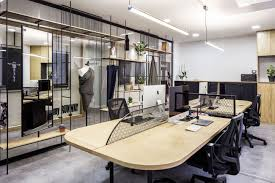 Office design images Home Elissa Stampa Fashion Design Office Open Working Space Clothes Dwell Elissa Stampa Fashion Design Office Slasharchitects
