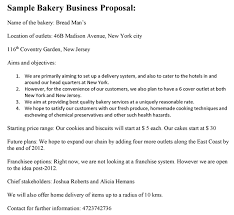 sample business proposal bakery business proposal sample