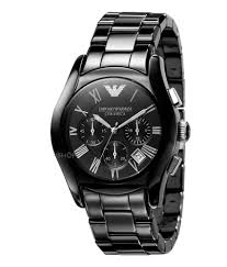 emporio armani men s ar1400 ceramic black chronograph dial watch