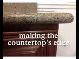 full bullnose edge on granite countertops