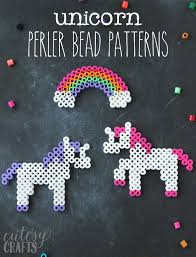 Perler Bead Patterns Extraordinary Unicorn Craft Unicorn Perler Bead Patterns Cutesy Crafts