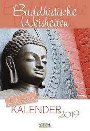 Literaturkalender Buddhistische Weisheiten 2019 Kalender Bestellen