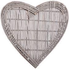 large heart wicker wall art