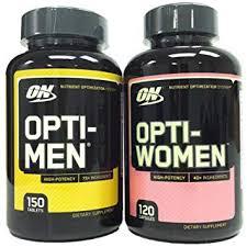 optimum nutrition opti men 150 multivitamin tablets opti women 120 capsules