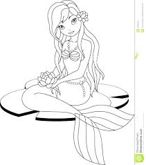 Mermaid Princess Coloring Pages Coloring Pages Coloring Page Little