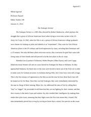 tuskegee airmen essay agarwal nikita agarwal professor hazard tuskegee airmen essay agarwal 1 nikita agarwal professor hazard ethnic studies 149 the tuskegee airmen the tuskegee airmen is a 1995 film directed by