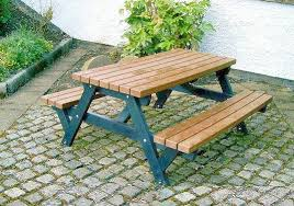Picnic Tables  Recycled Furniture  Outdoor Living  Picnic BenchesOutdoor School Benches