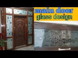 main door glass etching window glass