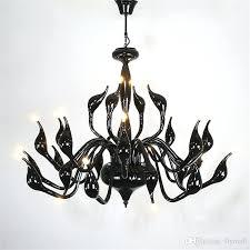 9 12 15 18 24 heads swan pendant light swan chandeliers lighting black wrought iron lighting fixtures lightning score nhl