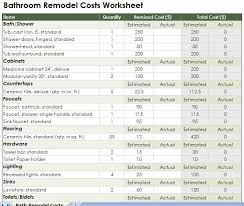 bathroom remodeling cost estimator. Bathroom Renovation Cost Estimator Remodeling T