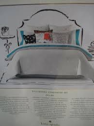 kate spade new york full queen comforter set deco dot gray w white polka dot