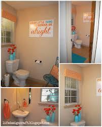 diy bathroom wall decor. Orange \u0026 Turquoise Bathroom - {with Free Print: \ Diy Wall Decor A