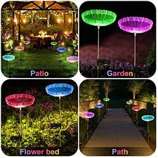 eeekit multi colored solar stake lights