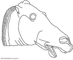 Small Picture Greek Horse from the Parthenon Coloring Page EnchantedLearningcom