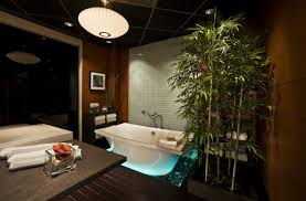 arrange good lighting for the asian inspired bathroom by creating a large window for natural light asian inspired lighting