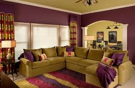 Purple Curtains For Living Room Living Room With Stripes Curtains And Stripes Area Rug Also Purple