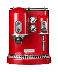 kitchenaid espresso machine artisan empire red