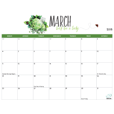 blank march calendar 2018 printable calendars archives imom