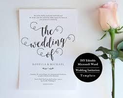 Wedding Invitation Set Templates Printable Invitation Set Landscape Printable Wedding Invitation
