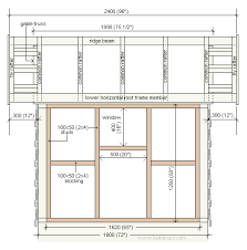 playhouse side elevation plan