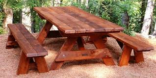 wooden picnic tables beautiful round table the new way home decor give a little regarding 17