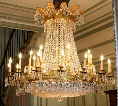 exceptional and important castle chandelier empire of baccarat crystal