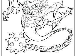 Skylander Printable Coloring Pages Printable Coloring Pages To Trap