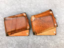 leather wallet vegetable tanned patina