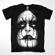 How To Design A Shirt With Paint Exclusive Mens T Shirt Corpse Paint Style Design Sb371 Ebay